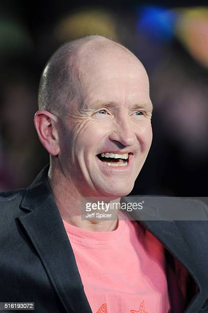 Eddie Edwards arrives for the European premiere of 'Eddie The Eagle' at Odeon Leicester Square on March 17 2016 in London England