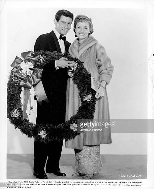 Eddie Fisher and Debbie Reynolds in publicity portrait for the film 'Bundle Of Joy', 1956.