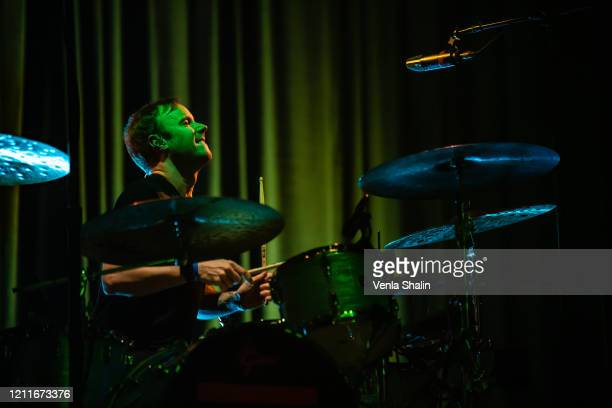 Eddie Fisher of OneRepublic performs at London Palladium on March 10 2020 in London England