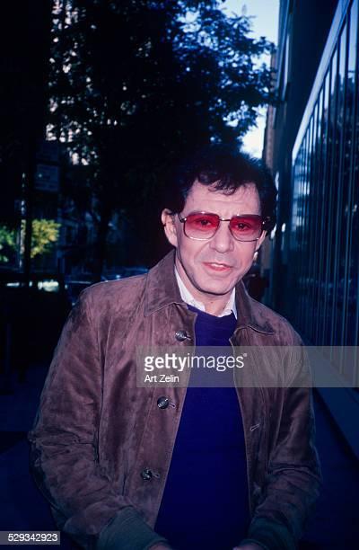 Eddie Fisher on W 67th St; circa 1970; New York.