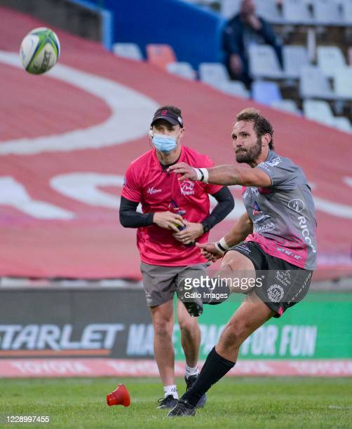 Eddie Fouche of Pakisa Pumas during the Super Rugby Unlocked match between Toyota Cheetahs and Phakisa Pumas at Toyota Stadium on October 10 2020 in...