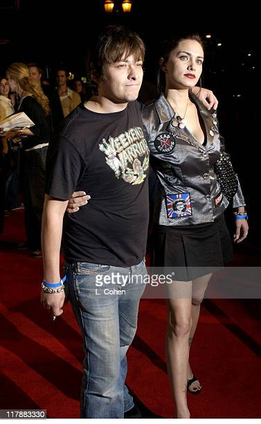 Eddie Furlong and Liz Levy during Play Station 2 and Mark Wahlberg Host Celebrity Gaming Tournament for Charity Arrivals at Club Ivar in Hollywood...
