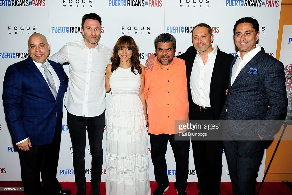 Eddie Garcia, Ian Edelman, Rosie Perez, Luiz Guzman, Frederic Anscombre and Joseph Zolfo attend New York Special Red Carpet Screening of Focus World's PUERTO RICANS IN PARIS at Landmark Sunshine on June 6, 2016 in New York City.