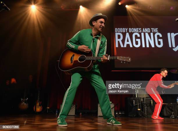 Eddie Garcia performs onstage during the Bobby Bones The Raging Idiots' Million Dollar Show for St Jude at the Ryman Auditorium on January 22 2018 in...