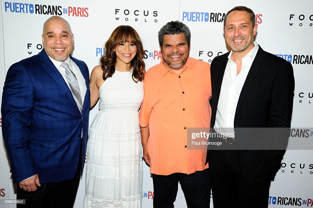 Eddie Garcia, Rosie Perez, Luiz Guzman and Frederic Anscombre attend New York Special Red Carpet Screening of Focus World's PUERTO RICANS IN PARIS at Landmark Sunshine on June 6, 2016 in New York City.