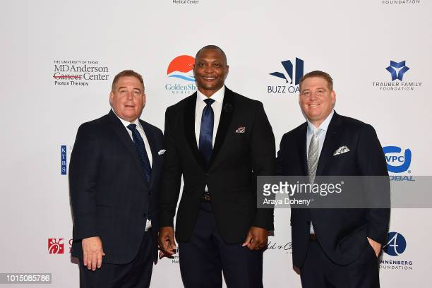 Eddie George and the Pump brothers attend the 18th Annual Harold and Carole Pump Foundation Gala at The Beverly Hilton Hotel on August 10 2018 in...