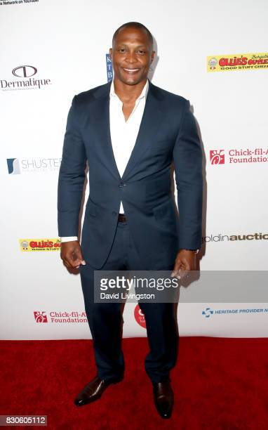 Eddie George at the 17th Annual Harold Carole Pump Foundation Gala at The Beverly Hilton Hotel on August 11 2017 in Beverly Hills California