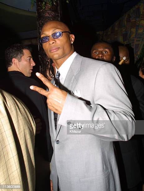 Eddie George during Emporio Armani GQ Dupont Registry and Derek Jeter Host Exclusive Super Bowl XXXV Bash at Rain Lounge in Tampa Florida United...