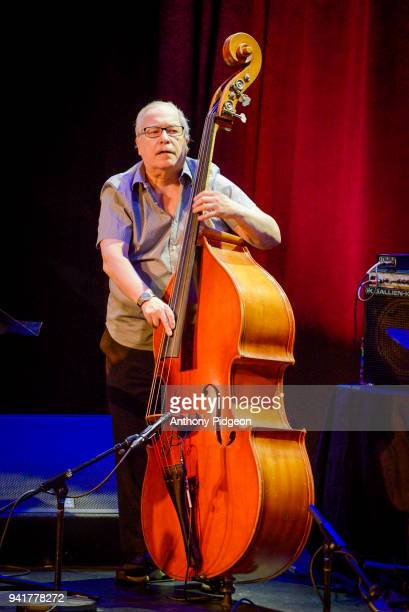 Eddie Gomez of Jazz By 5 performs on stage at Revolution Hall as part of the PDX Jazz Festival in Portland Oregon USA on 25th February 2018