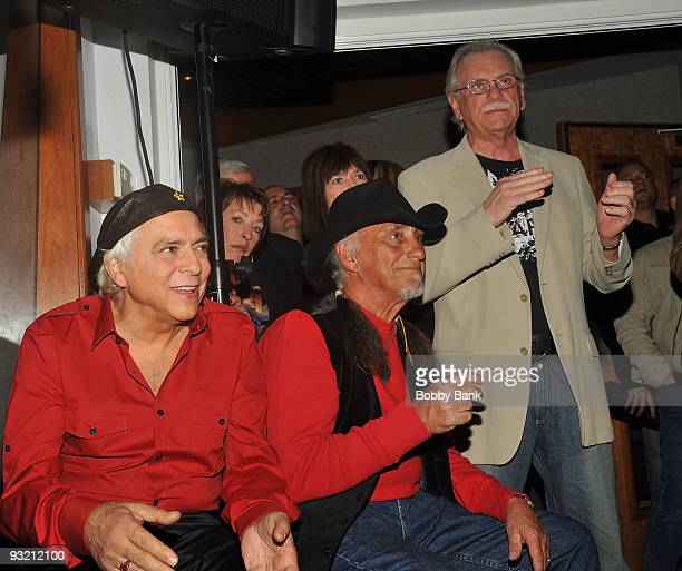 Eddie Gray Mike Vale and Ron Rosman of the original Shondells attends the Me The Mob The Music One Helluva Ride with Tommy James The Shondells book...