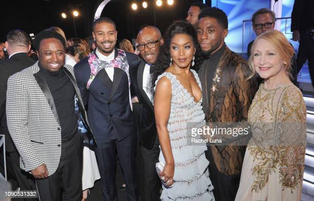 Eddie Griffin Michael B Jordan Courtney B Vance Angela Bassett Chadwick Boseman and Patricia Clarkson attend the 25th Annual Screen Actors Guild...