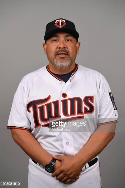 Eddie Guardado of the Minnesota Twins poses during Photo Day on Wednesday February 21 2018 at CenturyLink Sports Complex in Fort Myers Florida