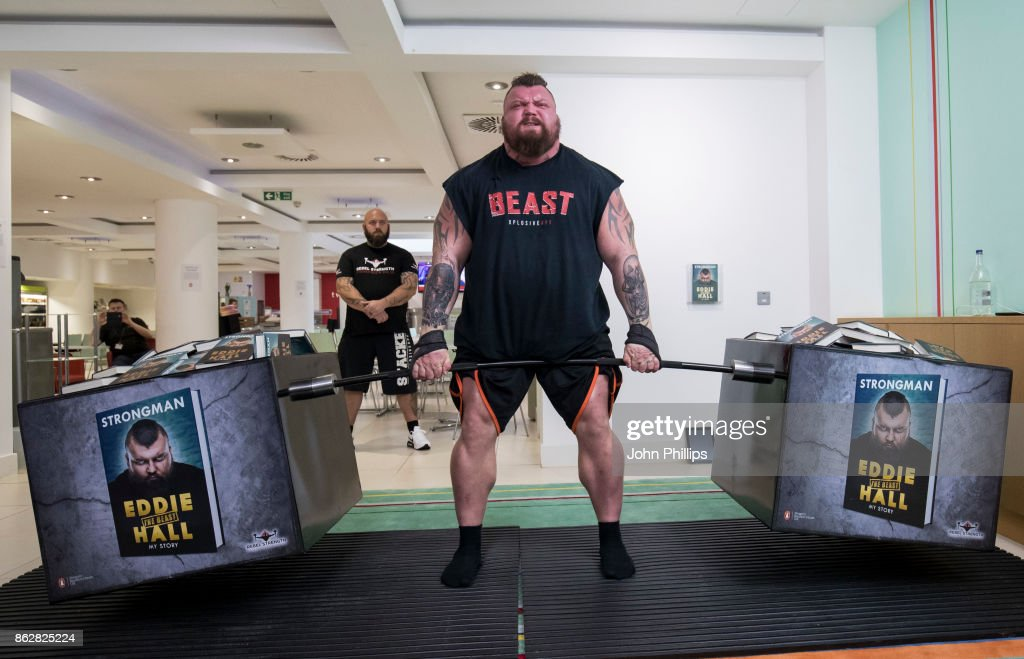 Eddie Hall Attempts Record-Breaking Dead Lift Photocall : News Photo