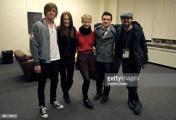 "Eddie Hassell, Julianne Moore, Mia Wasikowska, Josh Hutcherson, and Mark Ruffalo attend ""The Kids Are All Right"" during the 2010 Sundance Film..."