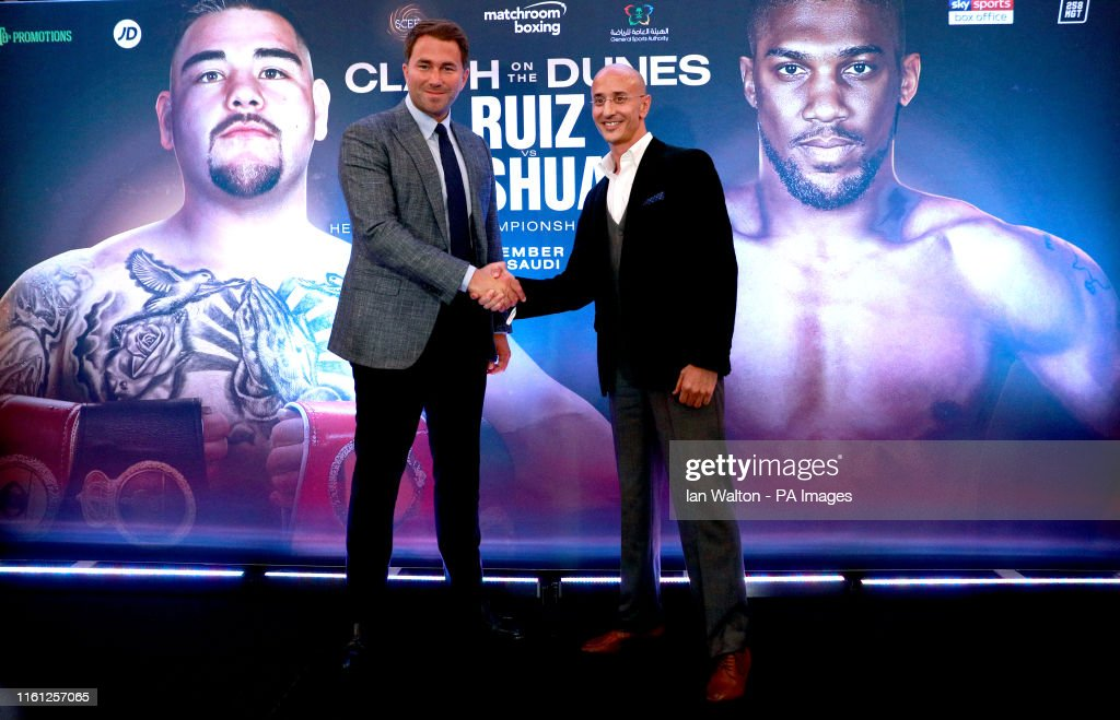 Anthony Joshua v Andy Ruiz Jr Press Conference - The Savoy Hotel : News Photo