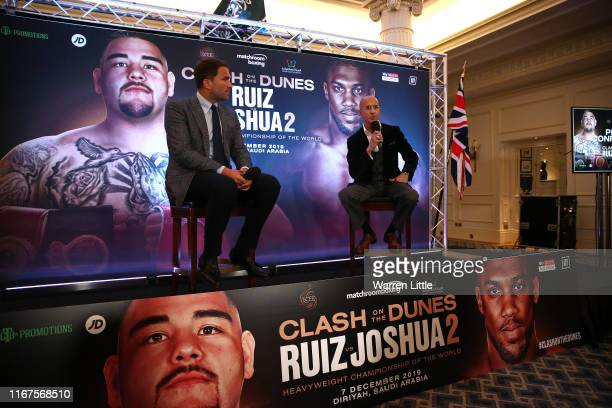 Eddie Hearn managing director of Matchroom Sport and Omar Khalil Managing Partner of Skill Challenge Entertainment official event partner in The...