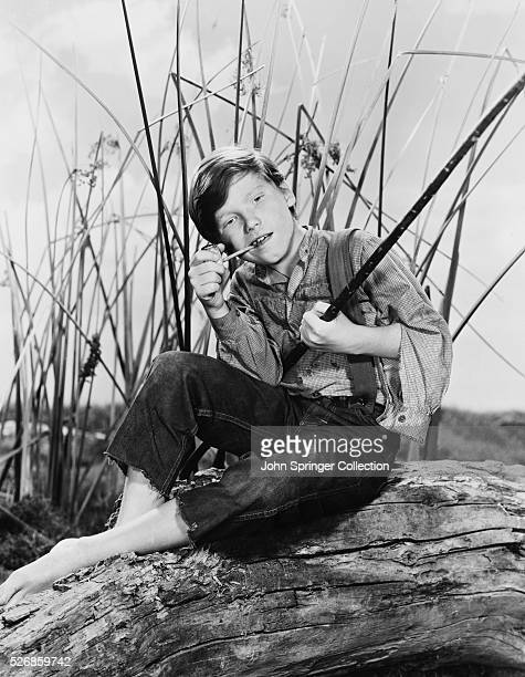 Eddie Hodges in the Title Role of the Film The Adventures of Huckleberry Finn