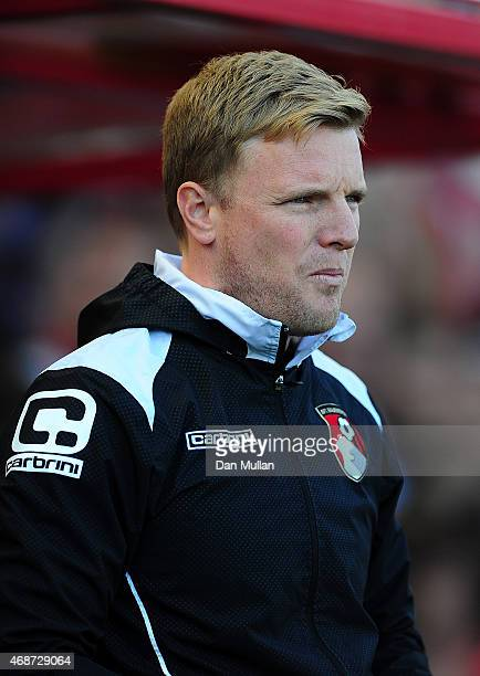 Eddie Howe Manager of AFC Bournemouth looks on during the Sky Bet Championship match between AFC Bournemouth and Birmingham City at Goldsands Stadium...