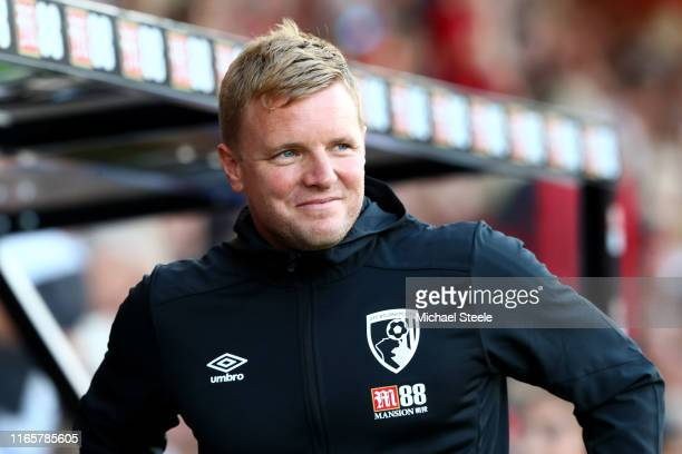 Eddie Howe the manager of Bournemouth during the Pre-Season Friendly match between AFC Bournemouth and SS Lazio at Vitality Stadium on August 02,...