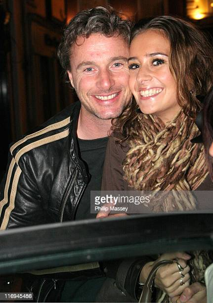 Eddie Irvine and friend during Eddie Irvine's 40th Birthday Party at Cocoon in Dublin at Cocoon in Dublin Ireland