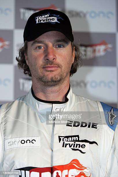 Eddie Irvine during The Race Photocall and Press Conference at Silverstone in Northampton Great Britain