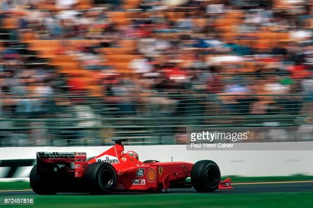 Eddie Irvine Ferrari F399 Grand Prix of Australia Albert Park Melbourne Grand Prix Circuit 07 March 1999 Eddie Irvine on the way to his first ever...