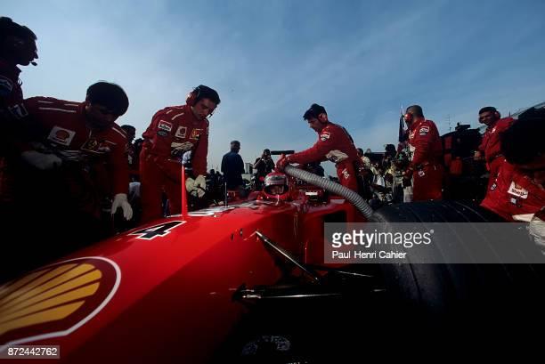 Eddie Irvine Ferrari F399 Grand Prix of Japan Suzuka Circuit 31 October 1999 Eddie Irvine and his Ferrari F399 on the starting grid of the 1999 Grand...