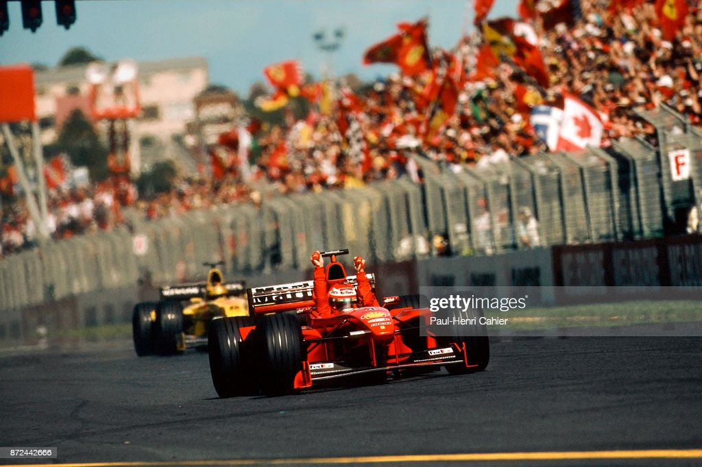 Eddie Irvine, Heinz-Harld Frentzen, Grand Prix Of Australia : News Photo