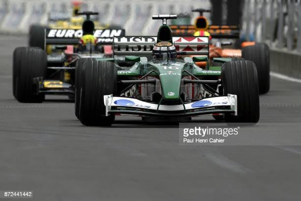 Eddie Irvine Mark Webber Enrique Bernoldi JaguarCosworth R3 MinardiAsiatech PS02 ArrowsCosworth A23 Grand Prix of Germany Hockenheimring 28 July 2002
