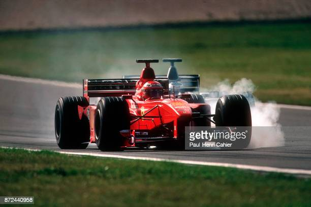 Eddie Irvine Mika Hakkinen Ferrari F399 Grand Prix of Europe Nurburgring 26 September 1999 Eddie Irvine battling with Mika Hakkiene and late braking...