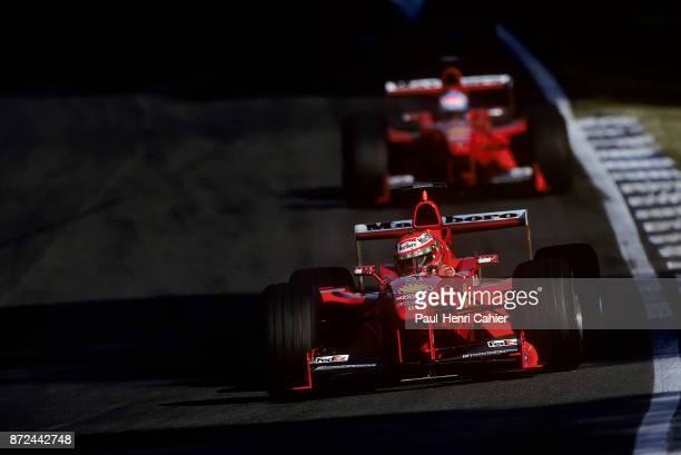 Eddie Irvine Mika Salo Ferrari F399 Grand Prix of Germany Hockenheimring 01 August 1999