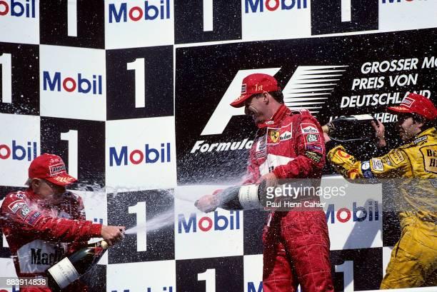 Eddie Irvine, Mika Salo, Heinz Harald Frentzen, Grand Prix of Germany, Hockenheimring, 01 August 1999.