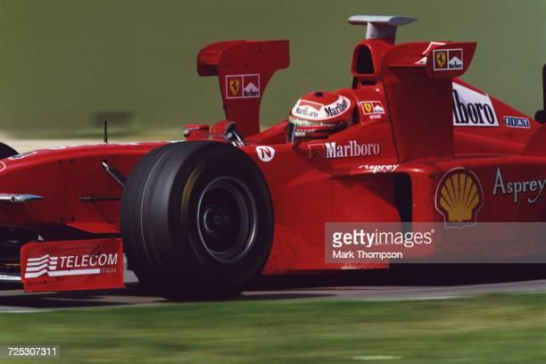 Eddie Irvine of Great Britain drives the Scuderia Ferrari Marlboro Ferrari F300 V10 with Xwings during the San Marino Grand Prix on 26 April 1998 at...
