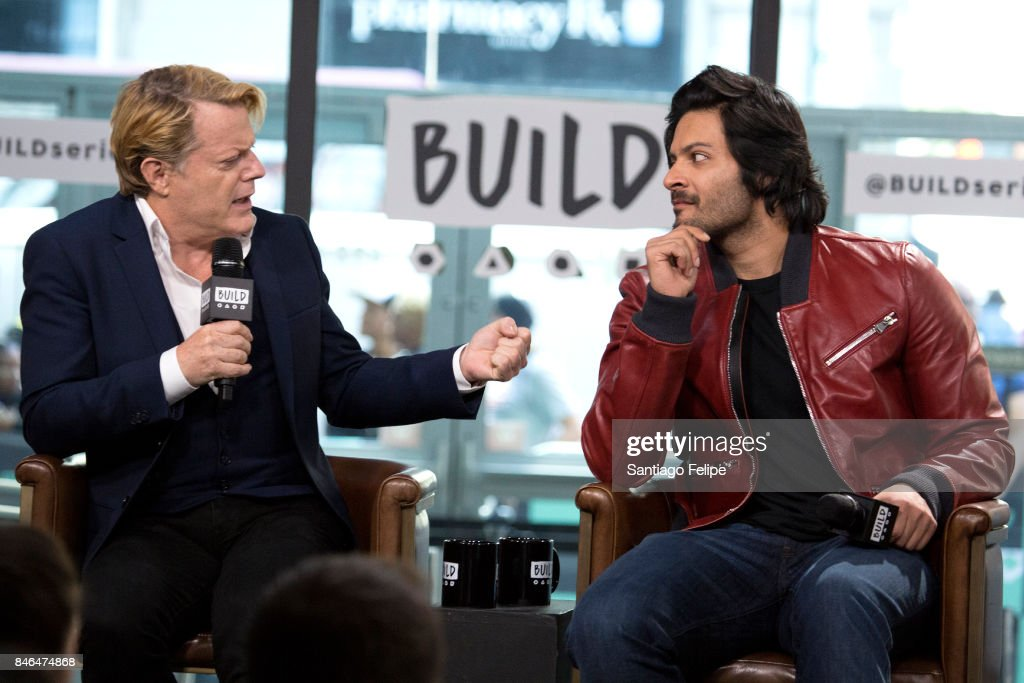 Eddie Izzard and Ali Fazal attend Build Presents to discuss the film 'Victoria & Abdul' at Build Studio on September 13, 2017 in New York City.