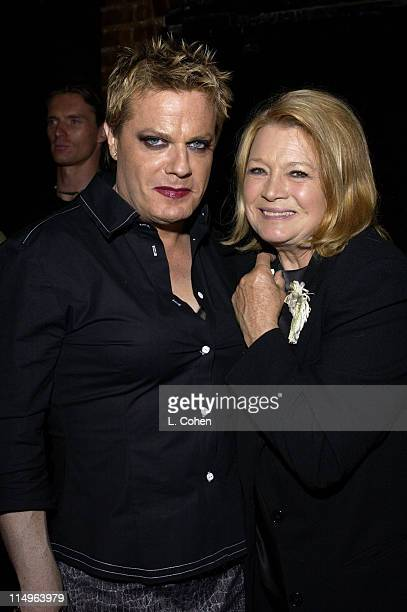 Eddie Izzard and Angie Dickinson during MAC Cosmetics Eddie Izzard Debut Sexie at Forty Deuce at Forty Deuce in Los Angeles California United States