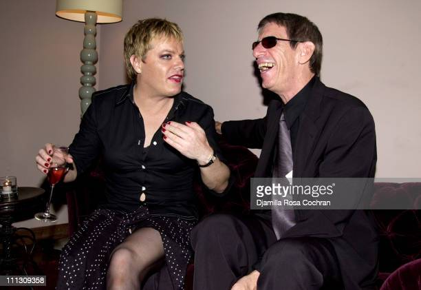 Eddie Izzard and Richard Belzer during MAC Cosmetics Eddie Izzard Sexie Party at Soho House in New York City New York United States