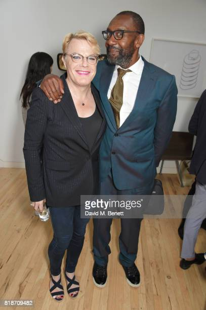 Eddie Izzard and Sir Lenny Henry attend the Mayor of London's Summer Culture Reception on July 18 2017 in London England