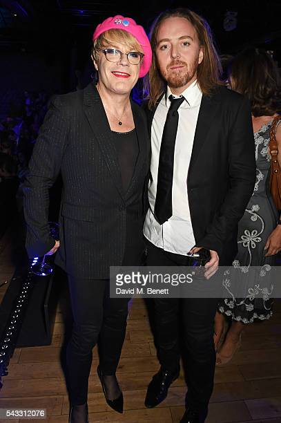 Eddie Izzard and Tim Minchin attend the Summer Gala for The Old Vic at The Brewery on June 27, 2016 in London, England.
