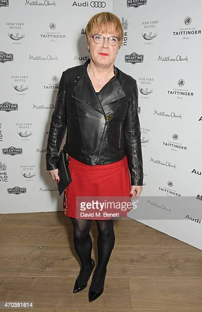 Eddie Izzard arrives at Ham Yard Hotel for the After Party of The Old Vic's A Gala Celebration in Honour of Kevin Spacey on April 19 2015 in London...