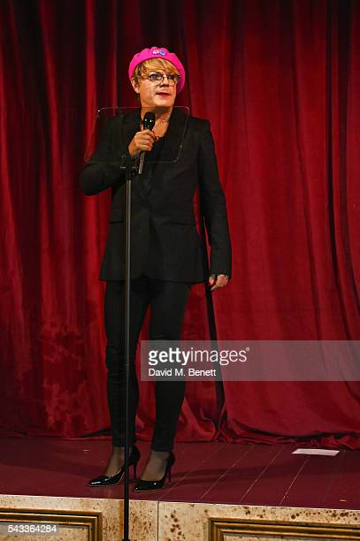 Eddie Izzard performs at the Summer Gala for The Old Vic at The Brewery on June 27 2016 in London England