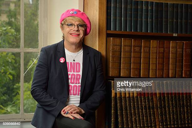 Eddie Izzard poses before addressing The Cambridge Union on the EU Referendum on June 12 2016 in Cambridge Cambridgeshire After joining Labour...