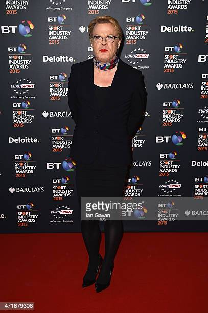 Eddie Izzard poses on the red carpet at the BT Sport Industry Awards 2015 at Battersea Evolution on April 30 2015 in London England The BT Sport...