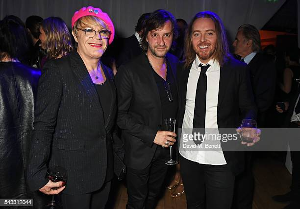 Eddie Izzard, Rob Marshall and Tim Minchin attend the Summer Gala for The Old Vic at The Brewery on June 27, 2016 in London, England.