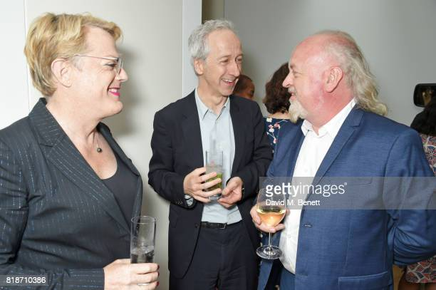 Eddie Izzard, Roly Keating and Bill Bailey attend the Mayor of London's Summer Culture Reception on July 18, 2017 in London, England.