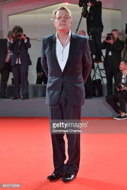 Eddie Izzard walks the red carpet ahead of the 'Victoria Abdul' screening And JaegerLeCoultre Glory To The Filmaker Award 2017 during the 74th Venice...