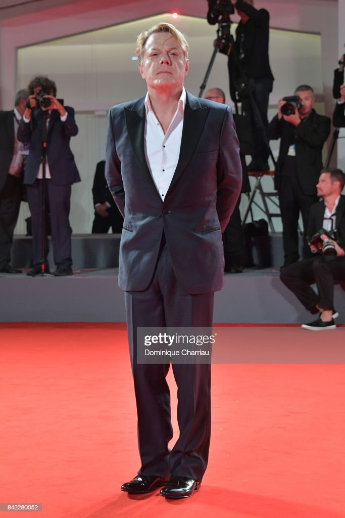 Eddie Izzard walks the red carpet ahead of the 'Victoria & Abdul' screening And Jaeger-LeCoultre Glory To The Filmaker Award 2017 during the 74th Venice Film Festival at Sala Grande on September 3, 2017 in Venice, Italy.