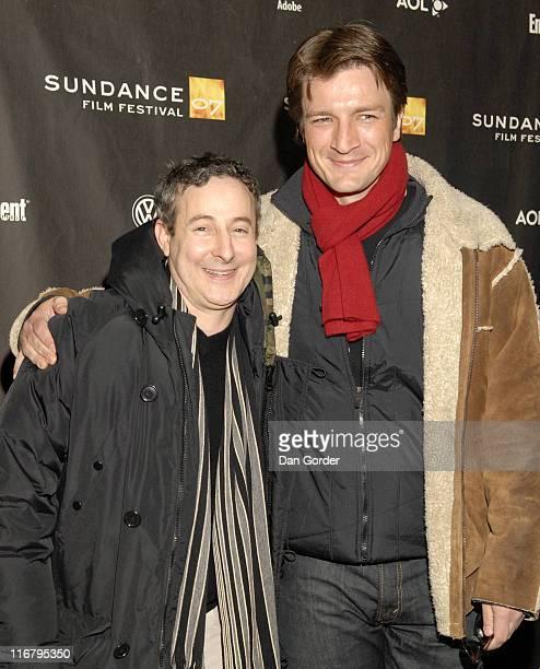 Eddie Jemison and Nathan Fillion during 2007 Sundance Film Festival 'Waitress' Premiere at Eccles in Park City Utah United States