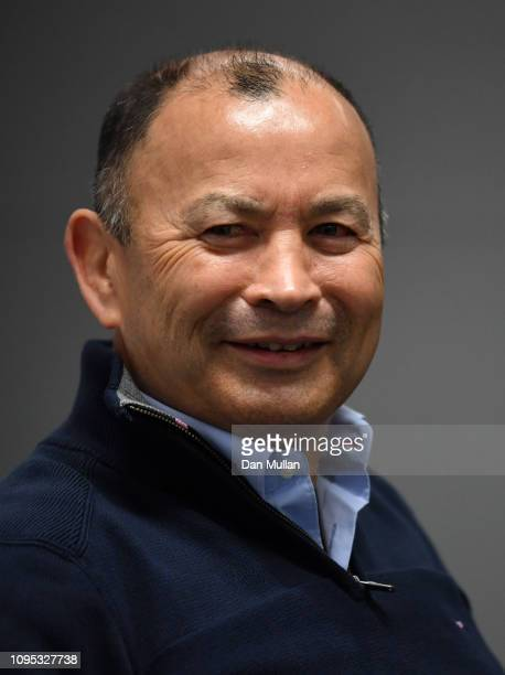 Eddie Jones head coach of England attends an England 6 Nations squad announcement at Twickenham Stadium on January 17 2019 in London England