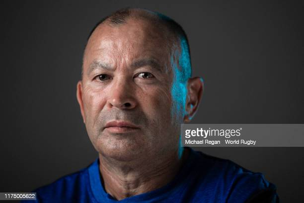 Eddie Jones Head coach of England poses for a portrait during the England Rugby World Cup 2019 squad photo call on September 15 2019 in Miyazaki Japan