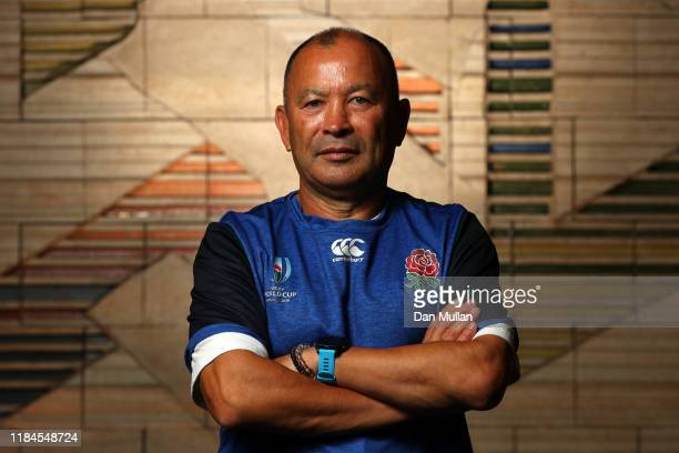 Eddie Jones Head Coach of England poses for a portrait following a press conference on October 31 2019 in Tokyo Japan